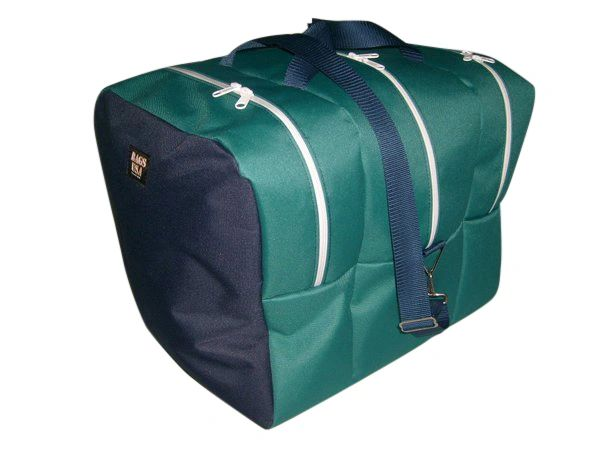 Double boot bag, Deluxe snow ski gear bag Made in USA.