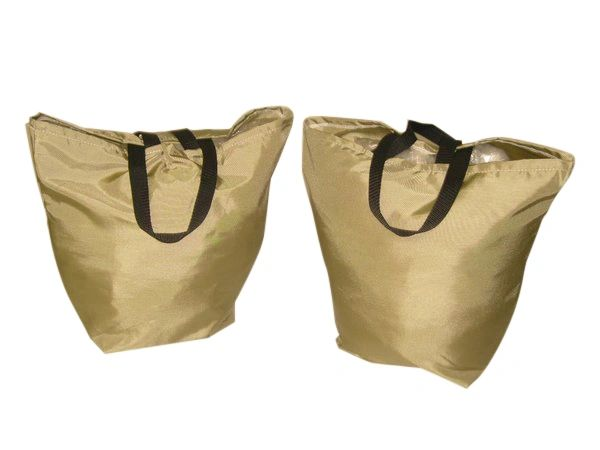 2 Packs Wide bottom reusable tough grocery bag,washable,durable Made in USA.