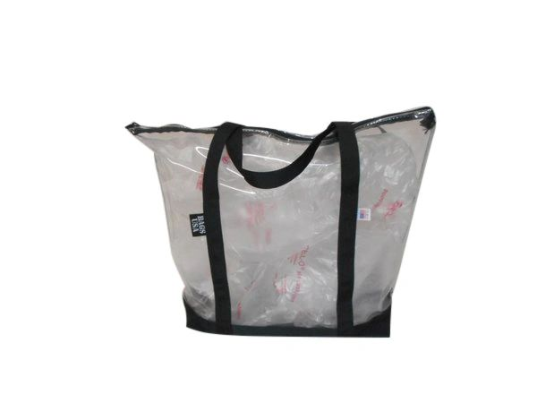 Clear beach tote,transparent tote,beach bag, airport security tote.