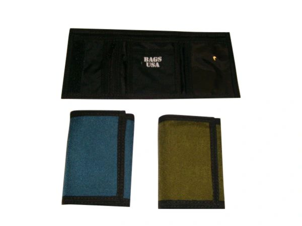 TriFold wallet with zipper Pocket Inside,Made in USA.