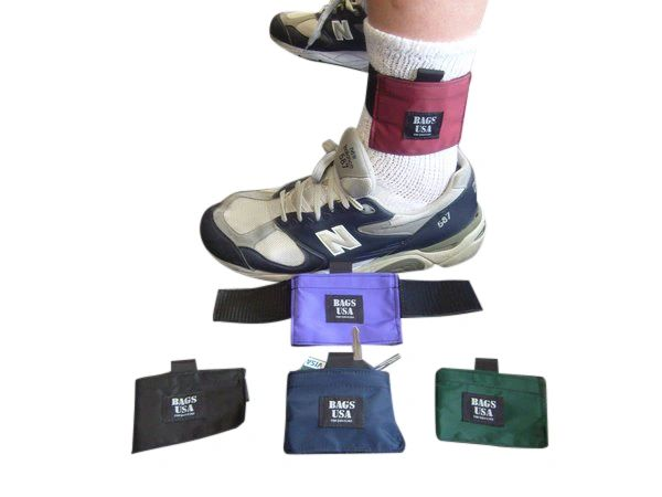 Ankle wallets,athletic ankle wallet for running, walking, traveling, Made in USA.