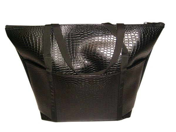 Ladies tote Italian lizard leatherette Made in USA.