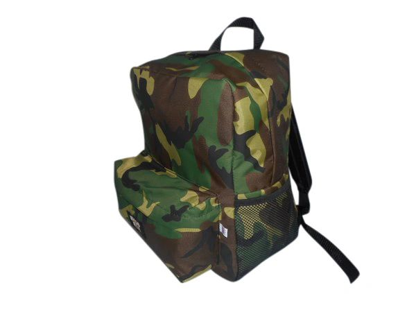 Student Backpack or day pack with two side pockets.,light weight nylon Made in USA.