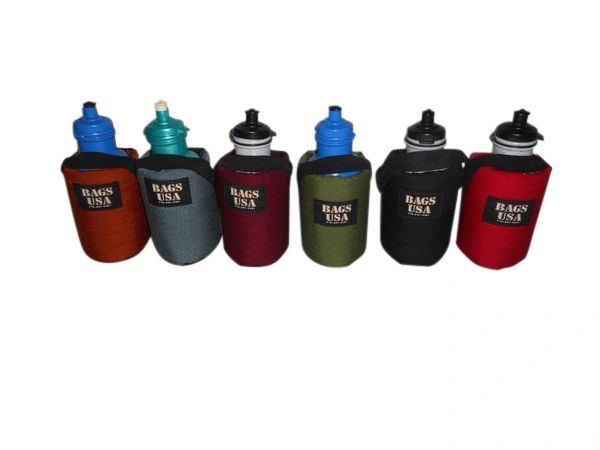 Bottle holder for 22 oz bottle attaches to your belt or fanny pack or Backpack.
