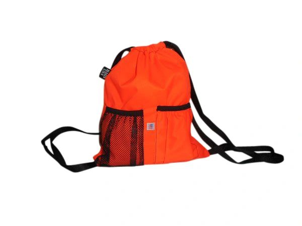 Sky Deluxe Backpack,cinch Backpack durable nylon New gray color! Made in USA.