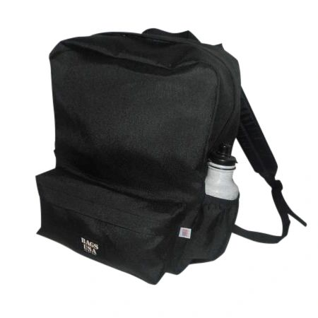 Backpack with front pocket and two side pockets Cordura Made in USA.