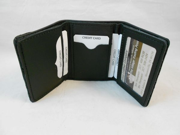 Firefighter Leather Trifold Wallet, Fireman Fire Department FD, Handcrafted
