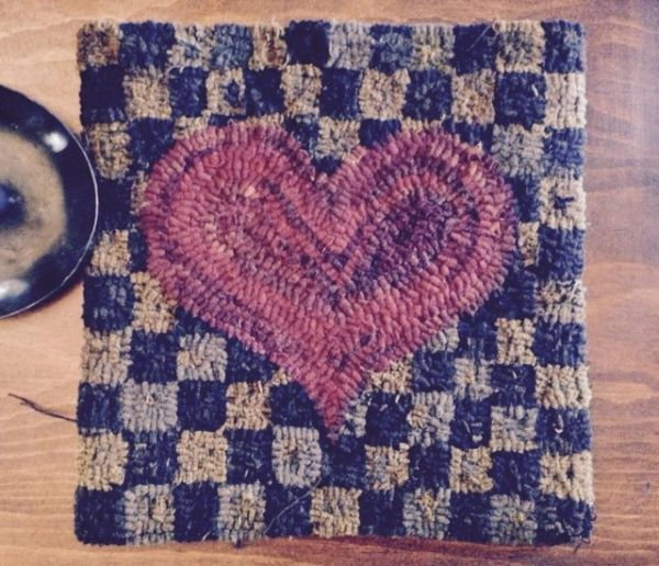 Checkerboard Heart Pattern