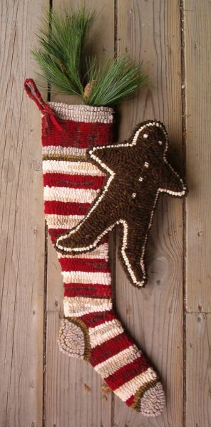 The Stockings Were Hung Pattern red/white stipe