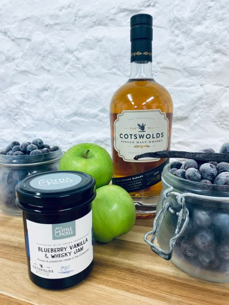 Blueberry, Vanilla and Whisky Jam