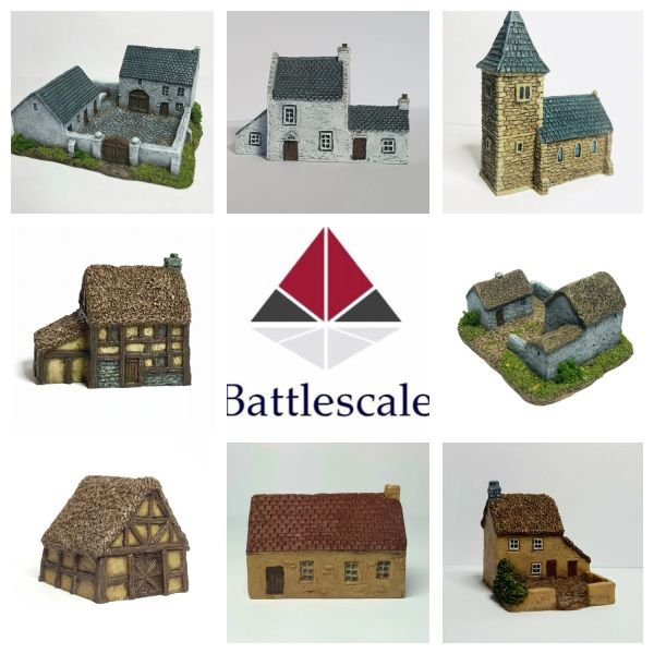 (6mm) 8 - Piece Rural Buildings Set