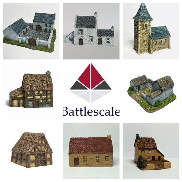 (6mm) 8 - Piece Rural Buildings Set
