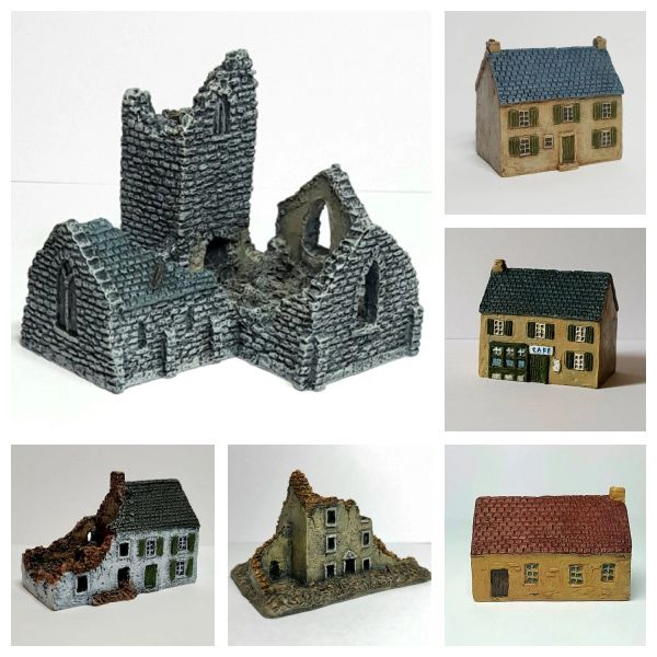 (6mm) 8 - Piece Normandy Village Set