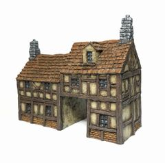 (10mm) Timber Framed Gatehouse (10B022)