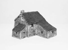 (6mm) Clapboard Farmhouse with Annexe (6B002)