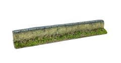(10mm) 4 x Rendered Urban Wall Straight Sections (10S017)