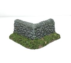(28mm) Rural Wall Corner Sections (2 per pack)