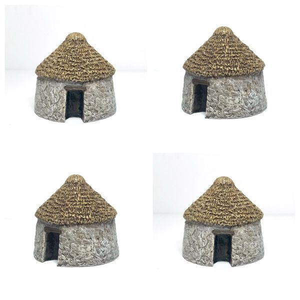 10mm Small Thatched Hut (pack of 4)