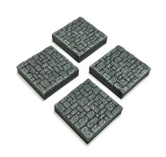 Cobbled Dungeon Floor Tiles 30mm x 30mm (Pack of 4)