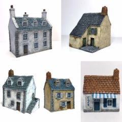5 - Piece European Buildings Set.