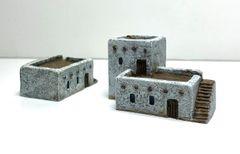 2 x (6mm) Desert Dwellings (ready painted)