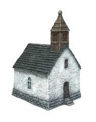 10mm Small Chapel (ready painted)