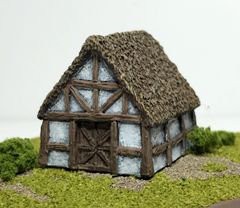 SOLD (6mm) Thatched Timber Framed Barn (ready painted)
