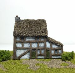 SOLD (6mm) Thatched Timber Framed House (ready painted)