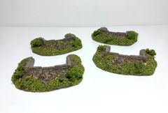 4 x 10mm Emplacements (30mm insert) Ready Painted