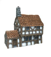 10mm Timber Framed 2-Storey House (ready painted)