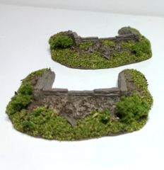 2 x 10mm Emplacements (30mm insert) Ready Painted