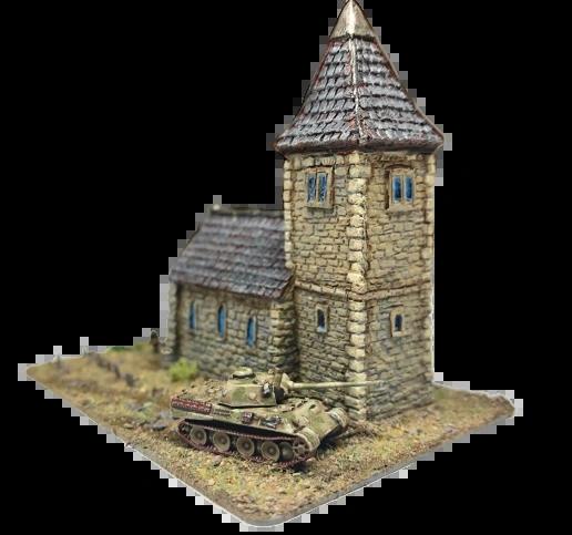 (6mm) European Church with Spire (6B026)