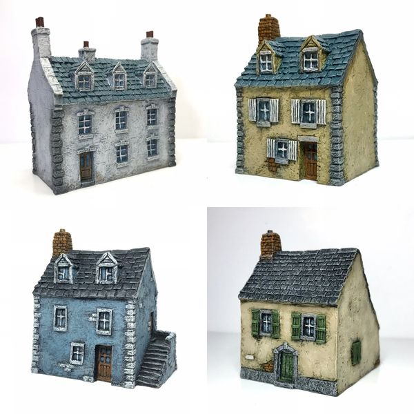 4 - Piece European Buildings Set.