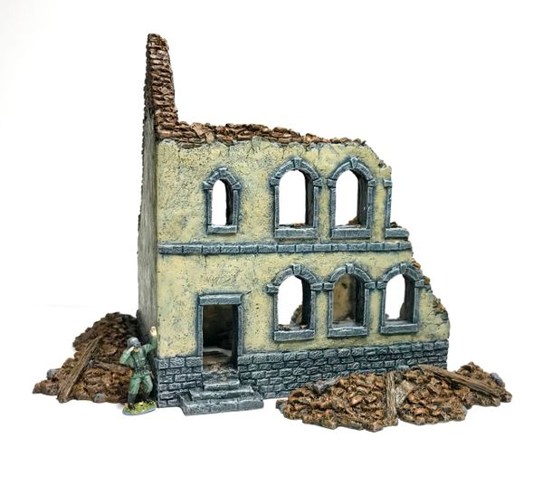 Ready Painted 20mm Townhouse Ruin #2