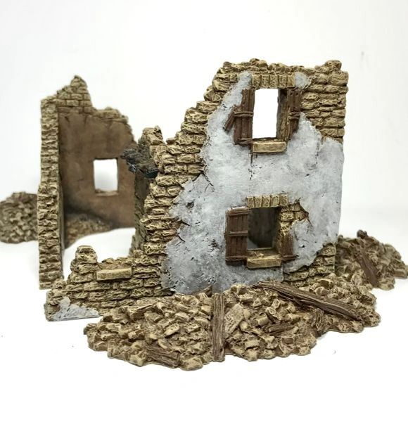 ReDy Painted 20mm Stone House Ruin #1