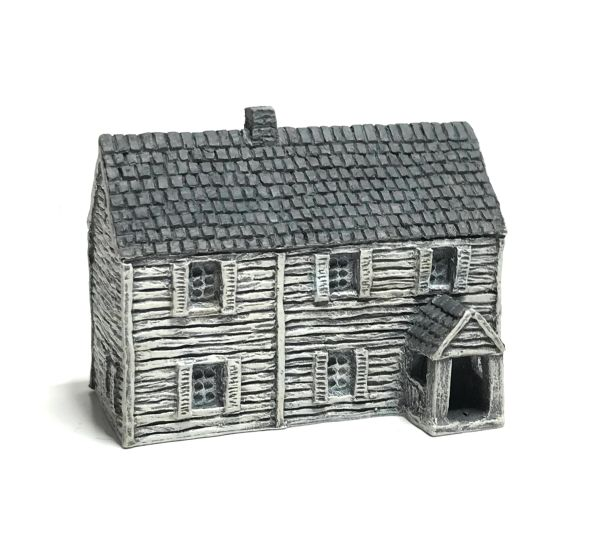 (6mm) READY PAINTED Large Clapboard House