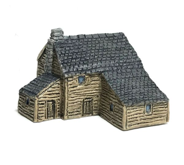 (6mm) READY PAINTED Clapboard house with annex