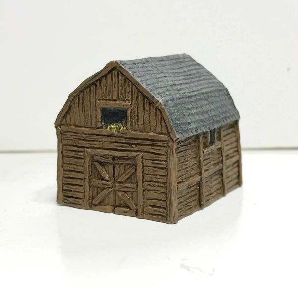 (6mm) READY PAINTED Gambrel Barn