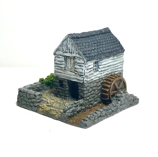 (6mm) READY PAINTED Small Rural Water Mill (6B013)