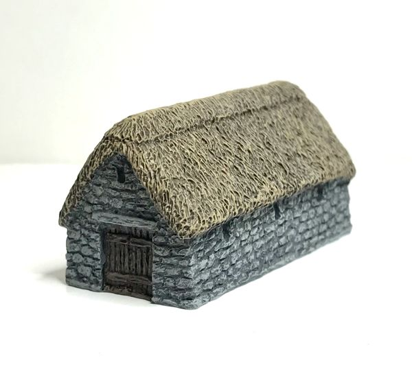 (6mm) READY PAINTED Thatched Stone Barn