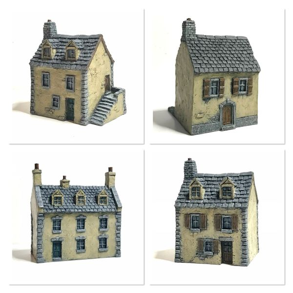 4 - Piece European Buildings Set.