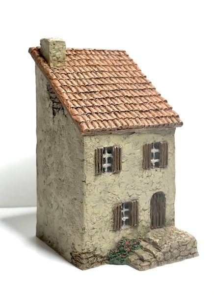 (SOLD) 10mm Ready Painted Two Storey Mediterranean House (no.1)