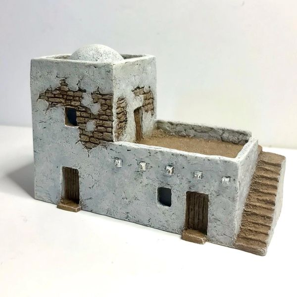 (SOLD) 10mm READY PAINTED Desert Adobe with Dome
