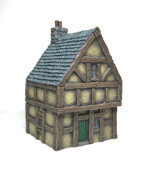 10mm (SOLD) READY PAINTED Timber Framed 2-Storey House (#2)