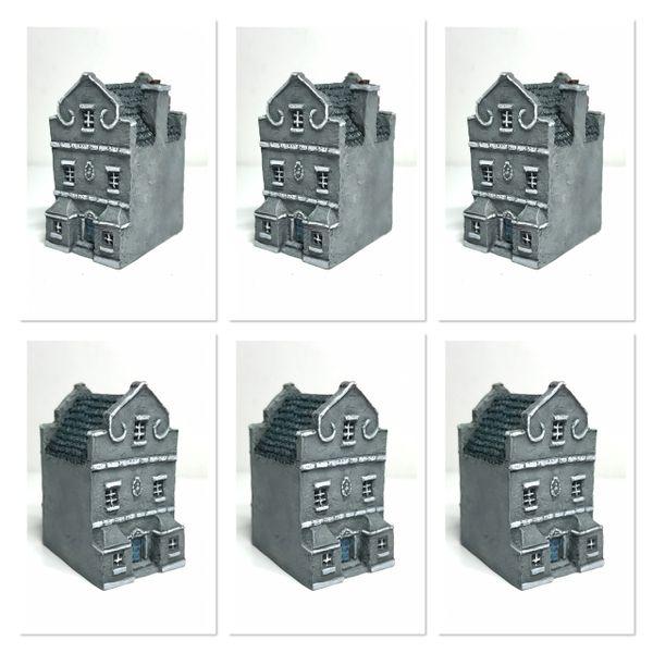 (6mm) Dutch / Belgian Townhouse with Triangular Gables x 6