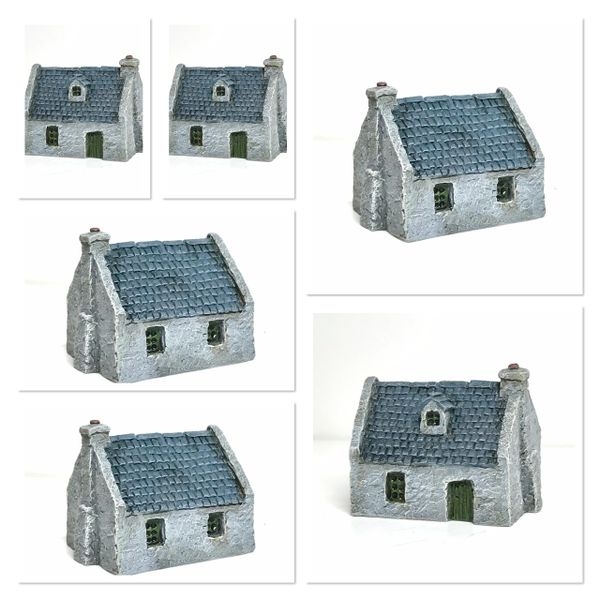 (6mm) 6 x Rendered Cottage with Dormer