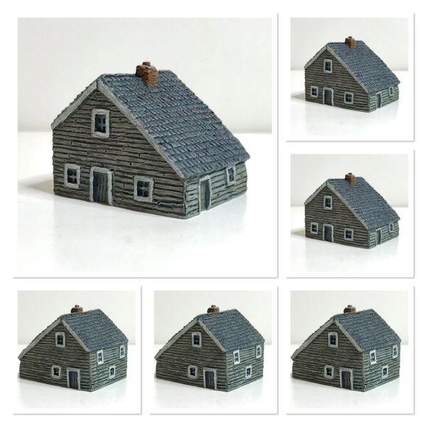 (6mm) 6 x Saltbox Houses