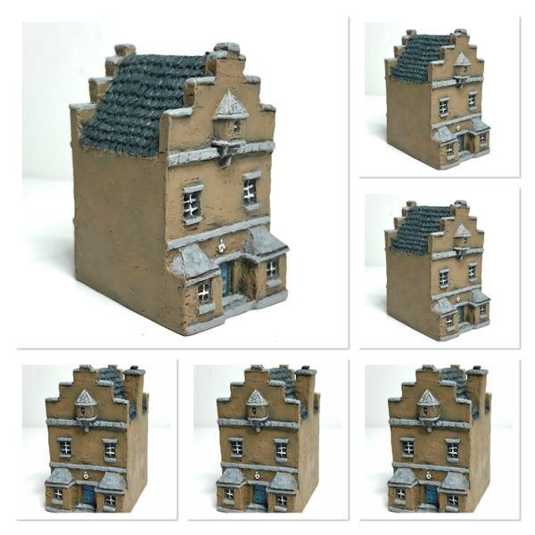 (6mm) Dutch / Belgian Townhouse with Stepped Gables x 6