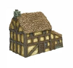 (6mm) Thatched Timber Framed House (6B025)