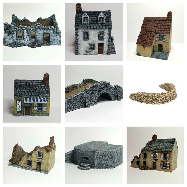 (10mm) 10 - Piece 'Bridgehead' Set